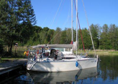 cobra 33 jacht żaglowy mazury prawa burta