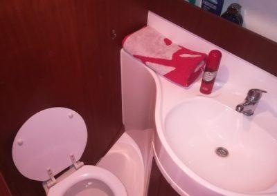 kabina WC jacht victoria tes 32 dreamer