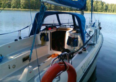 kokpit jachtu fotruna 27 mazury
