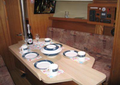 rozkładany stolik jacht żaglowy