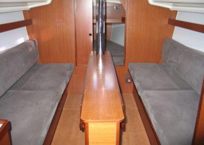 wnętrze jachtu Marysia jacht żaglowy