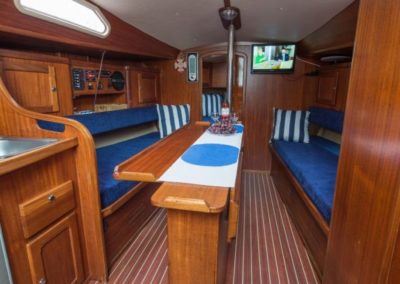 wnętrze jachtu victoria