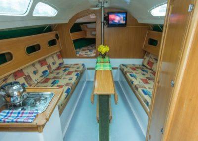 wnętrze jachty jumamaja
